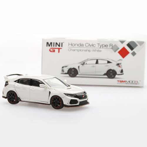 [TSM MODEL] 1/64 Mini GT Honda Civic Type R 화이트 (MGT00001-R) [69109]
