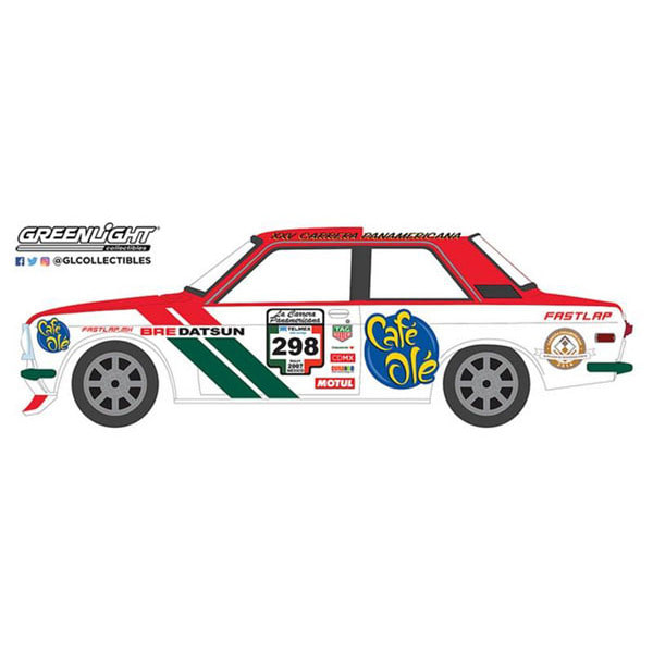 [GREEN LIGHT] 1/64 1972 Datsun 510 #298 - La Carrera Panamericana 2007 [02695]