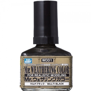 [MR.HOBBY] WC01 Mr.Weathering Color Multi Black 웨더링 컬러 멀티 블랙