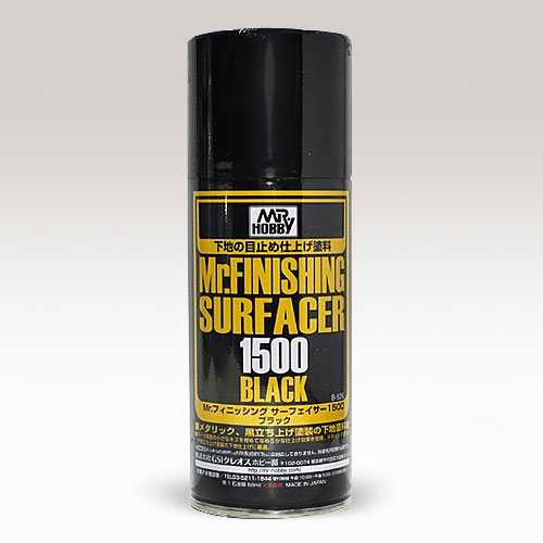 [Mr.HOBBY] Mr.finishing Surfacer 1500  (black) 피니싱 서페이서1500 (블랙)  [B526]