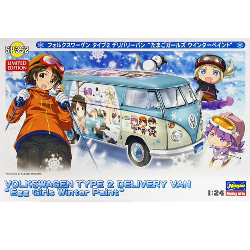 [HASEGAWA] 1/24 VOLKSWAGEN TYPE2 DELIVERY VAN (Egg Girls Winter Paint) [SP352]