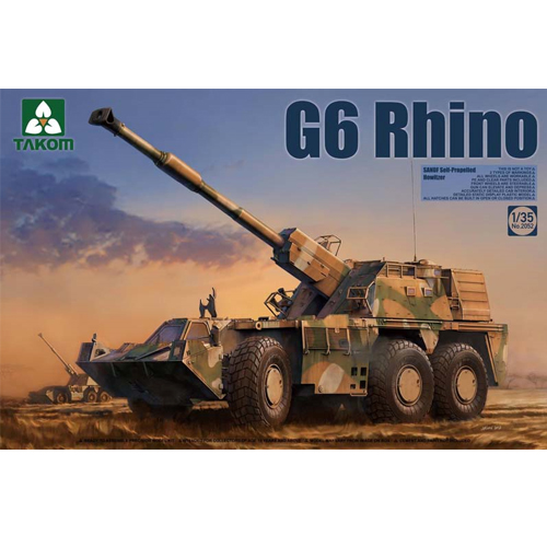 [TAKOM] 1/35 SANDF Self-Propelled Howitzer G6 Rhino [2052]
