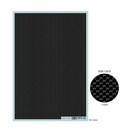 [TAMIYA] Carbon Decal Plain F [12679]