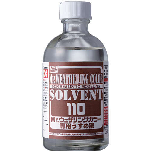 [MR.HOBBY] WCT101 웨더링 컬러 전용 신너 110ml (SOLVENT) [11152]