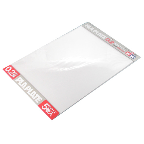 [TAMIYA] Pla Plate Clear 0.2mm B4 (5매) [70126]