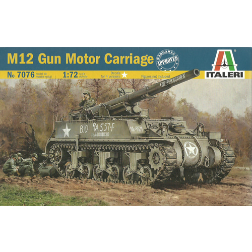 [ITALERI] 1/72 M12 155mm Gun Motor Carriage [07076]