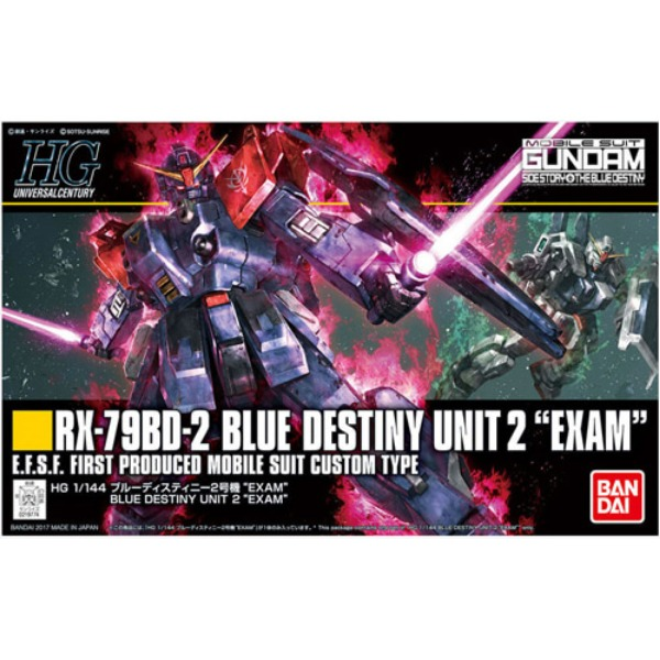[HGUC 208] 1/144 RX-79BD-2 BLUE DESTINY UNIT2 EXAM/ 블루 데스티니 2호기 EXAM [219774]