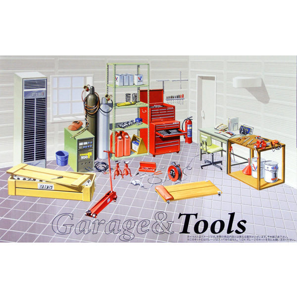 [FUJIMI] 1/24 GARAGE & TOOLS [115054]