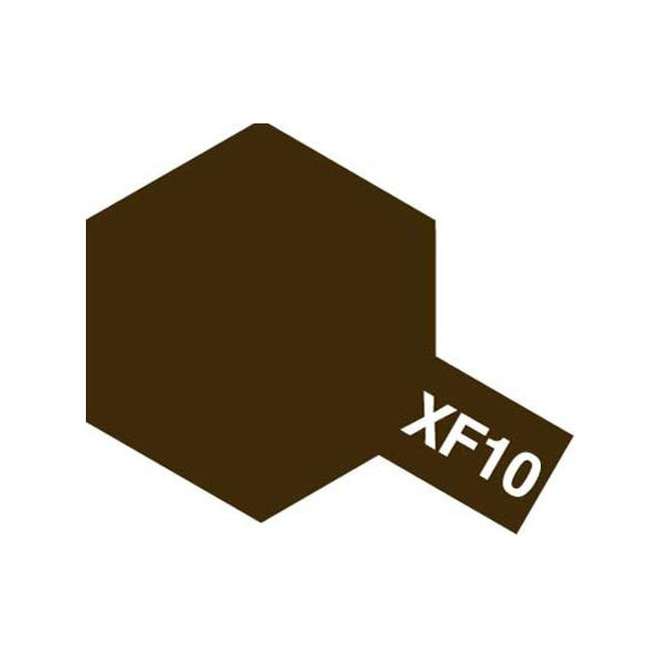 [타미야] Acrylic Mini XF-10 Flat Brown (무광 브라운) [81710]