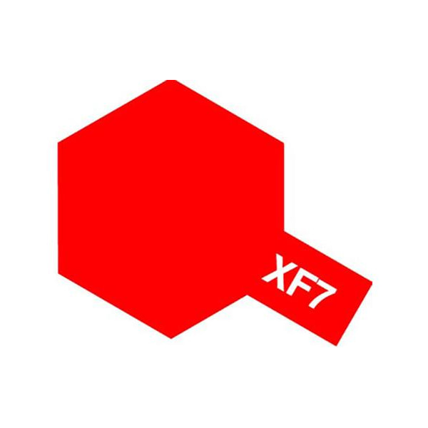 [타미야] Acrylic Mini XF-7 Flat Red (무광 레드) [81707]