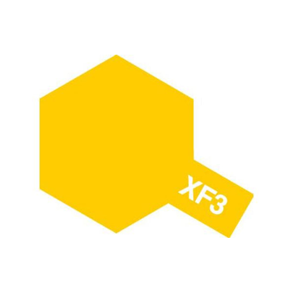 [타미야] Acrylic Mini XF-3 Flat Yellow (무광 옐로우) [81703]