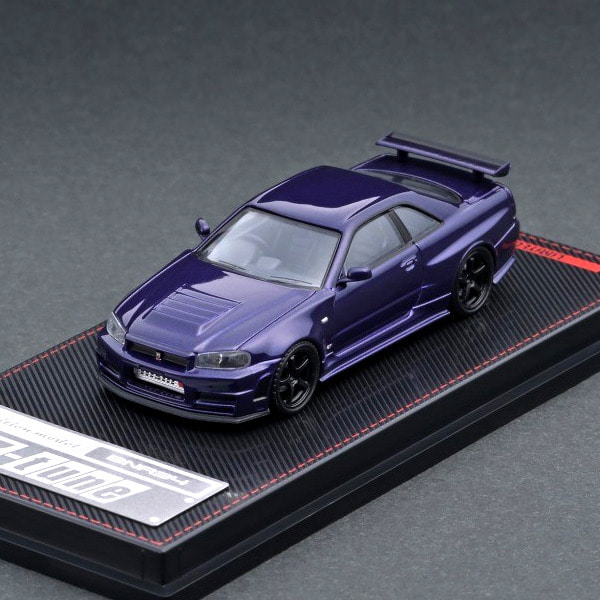 [IGNITION MODEL] 1/64 Nismo R34 GT-R Z-tune Purple Metallic [89127]