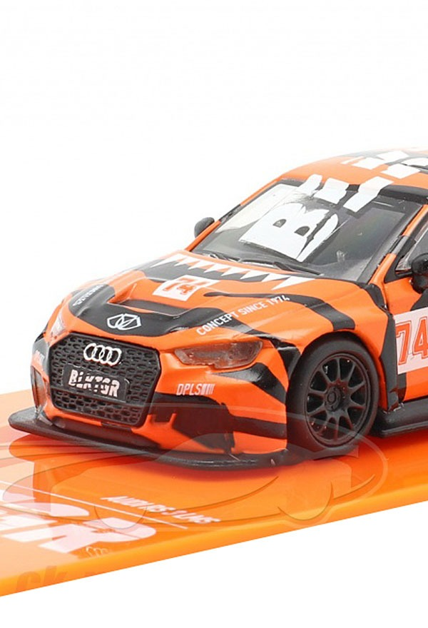 [TRAMAC WORKS] 1/64 Audi RS3 LMS #74 DPLS Special Edition orange [67462]