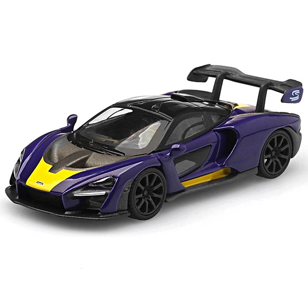 [TSM] MINI GT 1/64 McLaren Senna Purple/Yellow LHD (MGT00127-L) [68520]